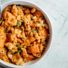 Herbstliches Kürbiscurry mit Pasta